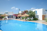 White luxury villa and pool, Greek islands