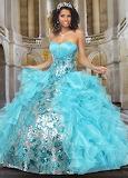 Light Blue Quinceanera Dress