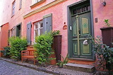 House with Pink Facade