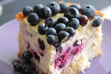 ^ Coconut and Blueberry Cheesecake