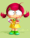 Girl with Lollypops