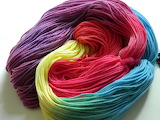 ^ Hand dyed colorful merino wool