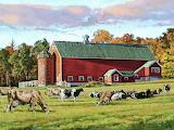 Farm Pasture in Autumn