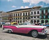 Pink Cadillac in Havana, Cuba