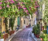 Sidwalk cafe Greece