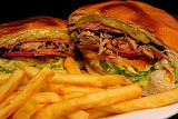 ^ Cuban sandwich with fries