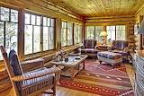 Wisconsin lakeside cabin 106 porch