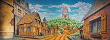 Village with castle