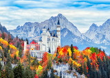Germany-castle-forest-mountains-autumn