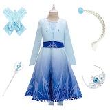 Ice-Snow-Story-2-Girl-Princess-Elsa-Dress-Set-For-3-14-Years-Gir