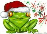 Green-Christmas-Frog