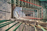 Staircase in a long forgotten factory