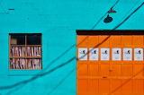 Blue Wall Orange Door