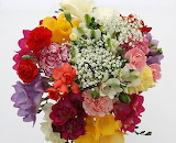 ^ Assorted flowers in a bouquet