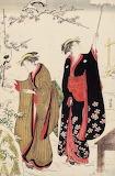 Женщины в снежном саду