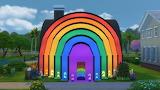 Colorful rainbow house 02