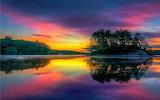 Lake-island-tree-sunset-background-1920x1200