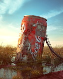 Coke Can Abstract