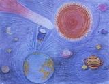 Giotto/Halley's Comet Children's Art, HQ-PHOTO-1986.X.22.1-14