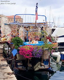 Crete boat stall in harbour, Chania