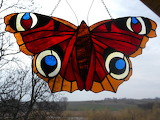 WItraż - Motyl- Rusałka Pawik-autor-ELa Dobosz