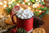 Christmas-hot chocolate-cup-marshmallow