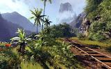 Railroad Through The Tropical Mountains