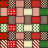 ^ Seamless Christmas background in patchwork style vector image