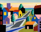 Houses and street, O. Guglielmi