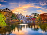 Autumn sunset in Central Park - New York