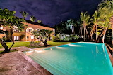 Luxury villa at night, Punta Cana, Dominican Republic