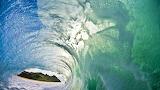Sea waves foam hills splash water channel 2016.07.06