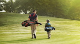 Golf Course father and son