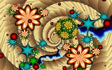 Abstract, colorful pattern
