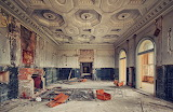 Intricate ceiling abandoned mansion