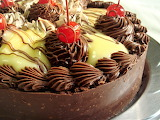 Black forest custard torte