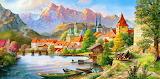 Drawn-village-wallpaper-8