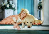 beautiful child with dog