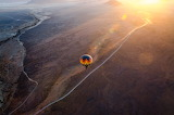 Sunrise ballon flight over the Sossusvlei dunes Namibia