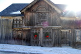 ^ Christmas decorated old barn