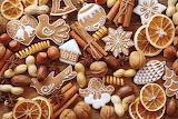 ^ Cinnamon, Nuts, Cookies, Orange, Fruit
