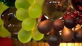 Czech Glass Fruit Lamp