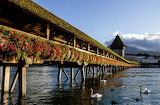 14th-century wooden Chapel Bridge Switzerland
