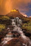 Dawn Waterfall, Clements Mountains, Montana