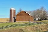 Barn w/ Silo and Fence
