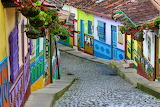 Colourful Street In Guatape, Colombia