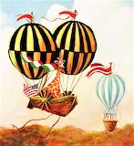 Giraffe and Balloon marilart.com
