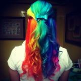 Rainbow hair