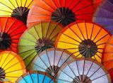Colorful Umbrellas, Laos...