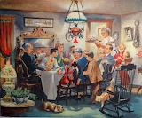 Holiday Dinner~ vintage art 2